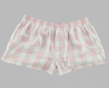 Boxercraft Women's Pink and Natural Buffalo Plaid Flannel Boxer Shorts