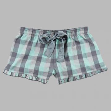 Boxercraft Women's Mint & Gray Flannel Boxer Shorts