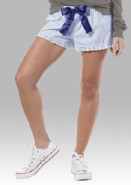 Boxercraft Women's Navy Seersucker VIP  Boxer Shorts