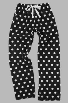 Boxercraft Black And White Dot Unisex Flannel Pajama Pant