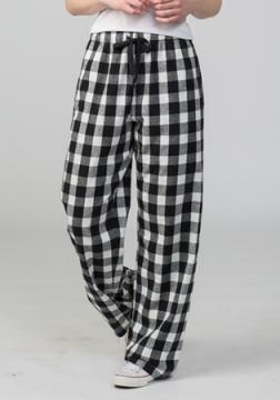 Boxercraft Black and White Buffalo Plaid Unisex Flannel Pajama Pant