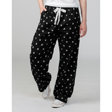 Boxercraft Black and White Stars Unisex Flannel Pajama Pant