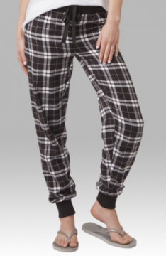 Boxercraft Black and White Plaid Flannel Tailgate Jogger
