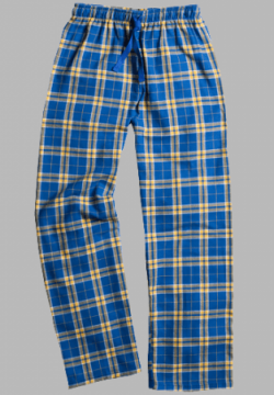 Boxercraft Royal and Gold Plaid Unisex Flannel Pajama Pant