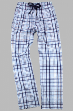 Boxercraft Carolina Blue and Navy Plaid Unisex Flannel Pajama Pant