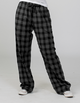 Boxercraft Charcoal and Black Buffalo Plaid Unisex Flannel Pajama Pant