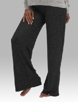 Boxercraft Women's Wide Leg Cuddle Pant in Charcoal