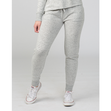 Boxercraft Women's Cuddle Jogger in Oxford and Natural Stripe