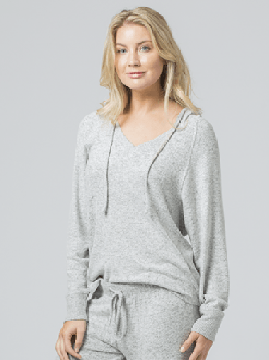 Boxercraft Women's Cuddle V-Neck Hoodie in Oxford
