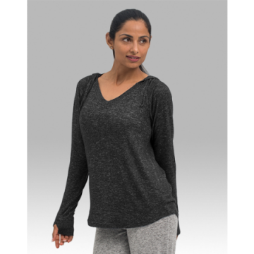 Boxercraft Women's Cuddle V-Neck Hoodie in Charcoal