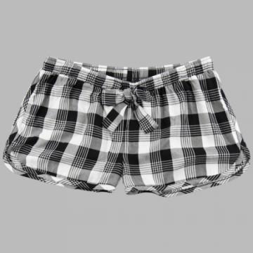 Boxercraft Women's Featherlite Black and White Plaid Boxer Shorts