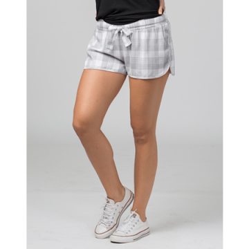 Boxercraft Women's Featherlite Grey and White Plaid Boxer Short