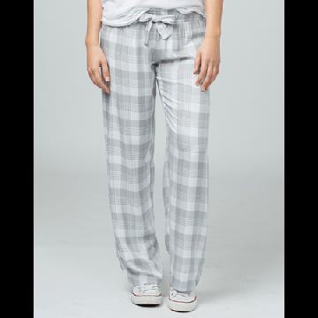 Boxercraft Women's Featherlite Grey and White Plaid Pajama Pant