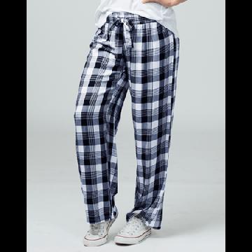 Boxercraft Women's Featherlite Navy and White Plaid Pajama Pant