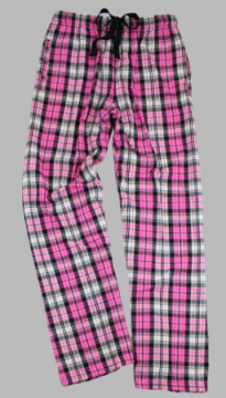 Boxercraft Fuchsia Sparkle Plaid Unisex Flannel Pajama Pant