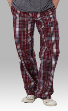 Boxercraft Garnet and Black Plaid Unisex Flannel Pajama Pant