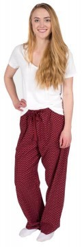 Boxercraft Garnet and White Swiss Dot Flannel Pajama Pant