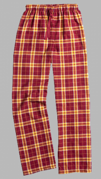 Boxercraft Garnet and Gold Plaid Unisex Flannel Pajama Pant