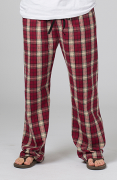 Boxercraft Garnet and Vegas Gold Plaid Unisex Flannel Pajama Pant
