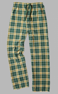 Boxercraft Green and Gold Plaid Unisex Flannel Pajama Pant