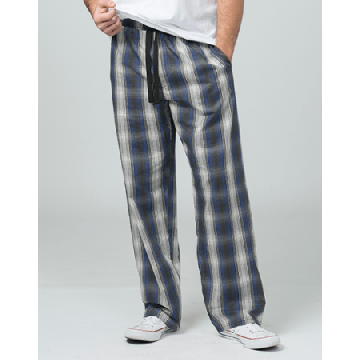 Boxercraft Men's Loungelite Navy and White Plaid Poplin Pajama Pant