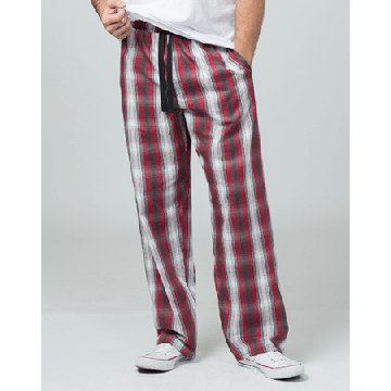 Boxercraft Men's Loungelite Red and Black Plaid Poplin Pajama Pant