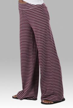 Boxercraft Women's Maroon Stripe Margo Loungepant