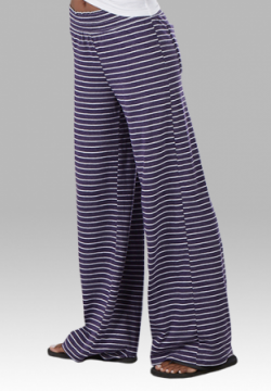 Boxercraft Women's Purple Stripe Margo Loungepant