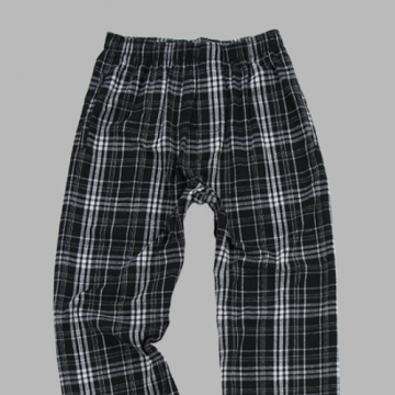 Boxercraft Men's Black and Grey Classic Plaid Flannel Pajama Pant