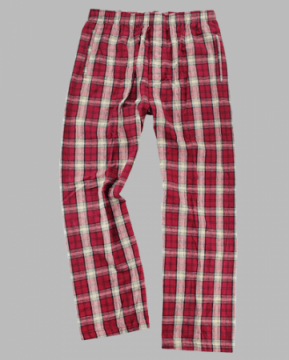 Boxercraft Men's Garnet & Vegas Gold Classic Plaid Flannel Pajama Pant