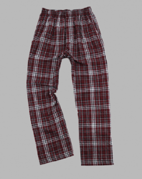 Boxercraft Men's Maroon and Black Classic Plaid Flannel Pajama Pant
