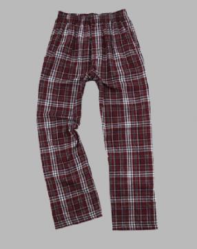 Boxercraft Men's Garnet and Black Classic Plaid Flannel Pajama Pant