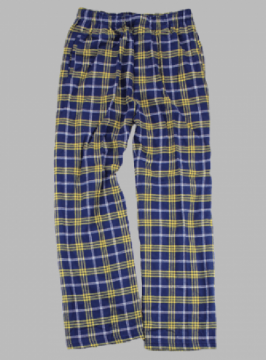 Boxercraft Men's Navy and Gold Classic Plaid Flannel Pajama Pant