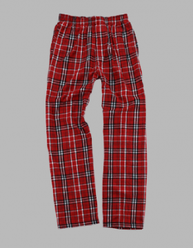 Boxercraft Men's Red and White Classic Plaid Flannel Pajama Pant