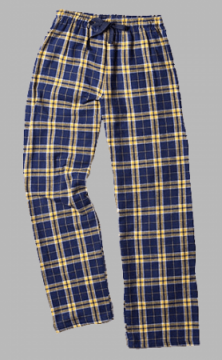 Boxercraft Navy and Gold Plaid Unisex Flannel Pajama Pant
