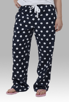 Boxercraft Navy and White Dot Unisex Flannel Pajama Pant