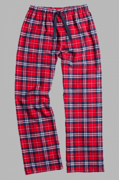 Boxercraft Navy and Red Plaid Unisex Flannel Pajama Pant
