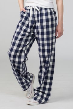 Boxercraft Navy and Natural Buffalo Plaid Unisex Flannel Pajama Pant