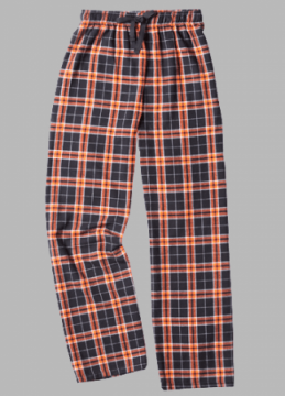 Boxercraft Orange and Black Plaid Unisex Flannel Pajama Pant