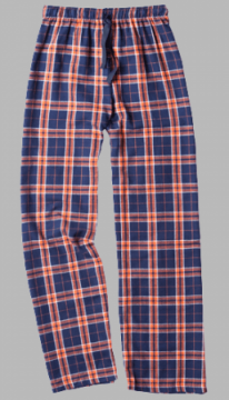 Boxercraft Orange and Navy Plaid Unisex Flannel Pajama Pant