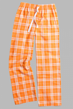 Boxercraft Orange and White Plaid Unisex Flannel Pajama Pant