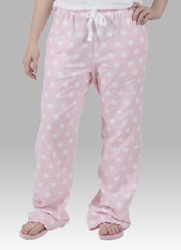 Boxercraft Pale Pink Dot Unisex Flannel Pajama Pant