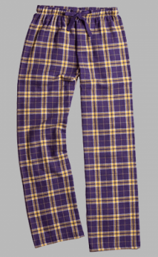Boxercraft Purple and Gold Plaid Unisex Flannel Pajama Pant