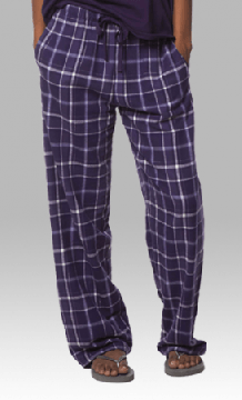 Boxercraft Purple Sparkle Plaid Unisex Flannel Pajama Pant