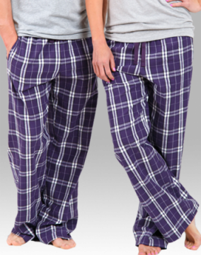 Boxercraft Purple and White Plaid Unisex Flannel Pajama Pant