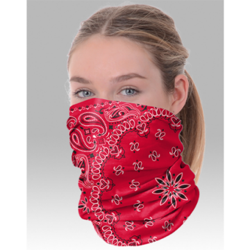 Boxercraft Adult Red Bandana Comfort Gaiter