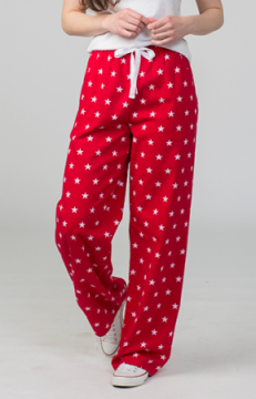 Boxercraft Red Stars Unisex Flannel Pajama Pant