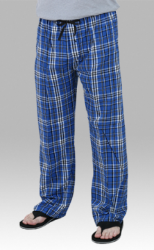Boxercraft Royal and Black Plaid Unisex Flannel Pajama Pant