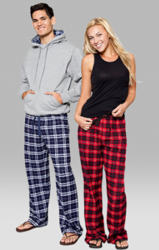 Boxercraft Red and Black Plaid Unisex Flannel Pajama Pant
