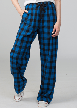Boxercraft Royal and Black Buffalo Plaid Unisex Flannel Pant